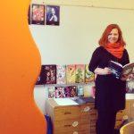 Anette Skåhlberg läser sina böcker