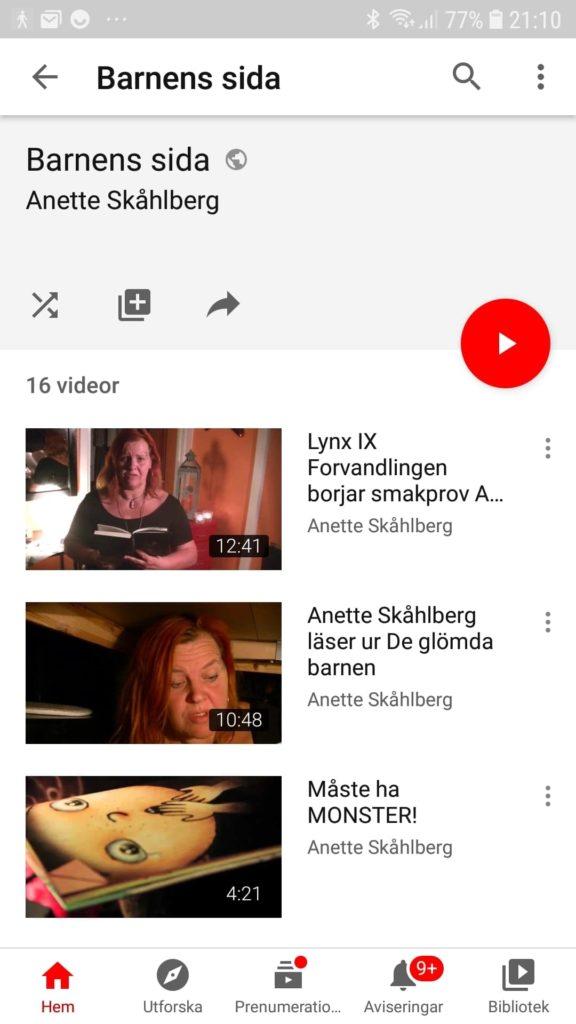 YoutTube mobil - Anette Skåhlberg